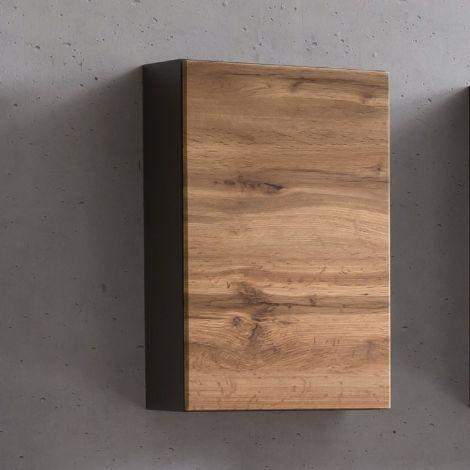 Hangkast Kornel/Luna 40cm 1 deur - grafietgrijs/eik