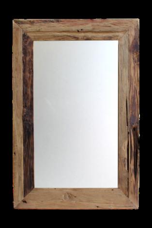 Wandspiegel Rustiek - 120x60 cm - drijfhout teak