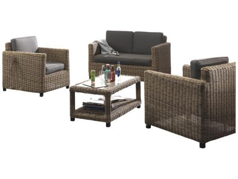 Loungeset Modena - naturel wicker