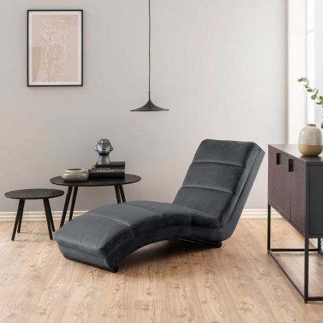 Chaise longue Slick - donkergrijs/zwart