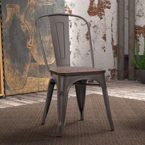 Set van 4 stoelen Victoria - metaalkleur