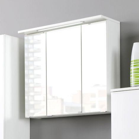 Armoire de toilette Bobbi 60cm modèle 1 3 portes & eclairage LED - blanc