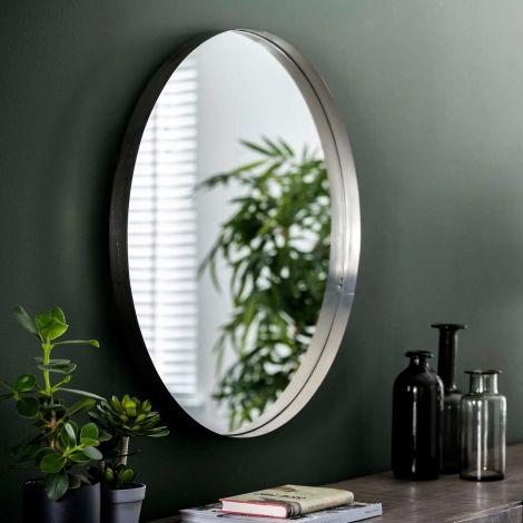 Spiegel Ro Ø75 - antiek nikkel