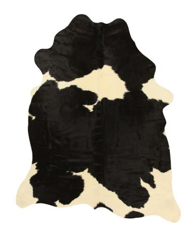 Tapis Leather Cow Hide Black/White