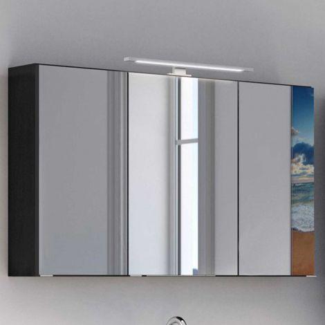 Armoire de toilette Lotuk 100cm 3 portes - gris graphite