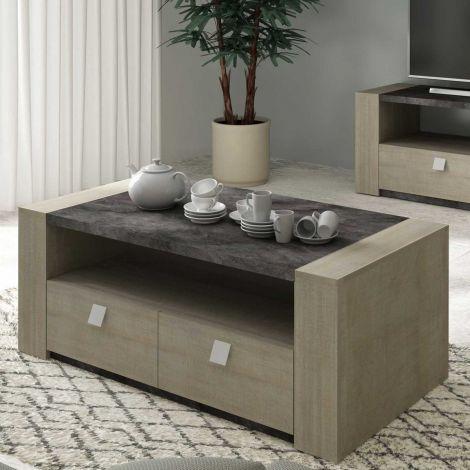 Salontafel Iris - grijs beton
