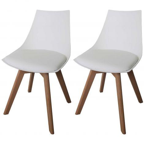 Set van 2 stoelen Cosmo - wit