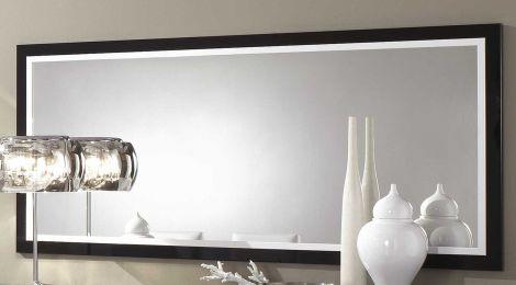 Spiegel Roma 140 cm - zwart/wit