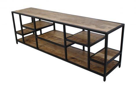 TV meubel Levels 170cm - mangohout / ijzer