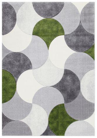Vloerkleed Gioia A 190x133 - Gris/vert
