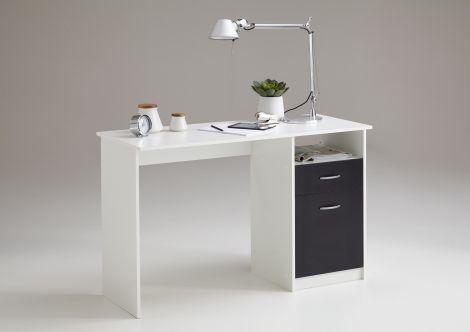 Bureau Jady 123cm - blanc/noir