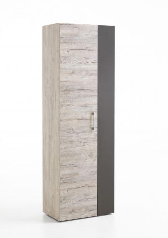 Kleerkast Nala 60cm met 2 deuren - grijze eik