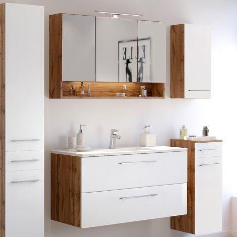 Ensemble salle de bains Sefa 2 - chêne/blanc