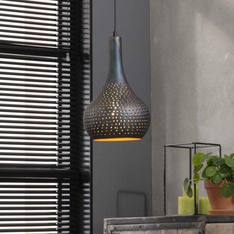 Hanglamp Cone 1 lampenkap - zwart/bruin