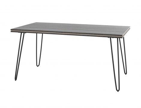 Eettafel Clip 160x90 industrieel - grijs