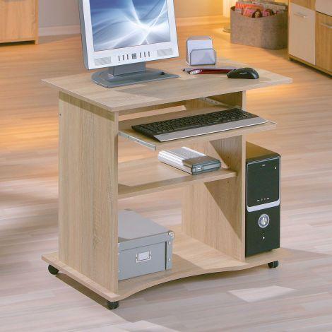 Computertafel op wielen Adda - eik