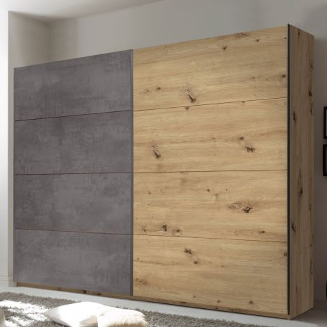 Kledingkast Paslack 270cm met 2 deuren - Artisan eik/beton