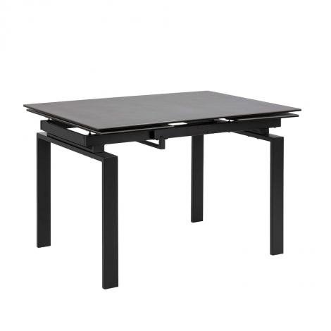 Table à manger extensible Hunor 120x/200x85 - noir