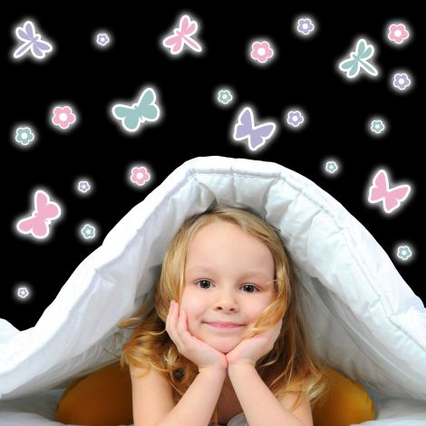 Stickers muraux Butterflies phosphorescents