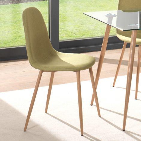 Set van 4 stoelen Yo - groen