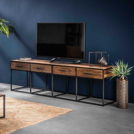 Tv-meubel Florin 180 cm 4 lades - hardhout