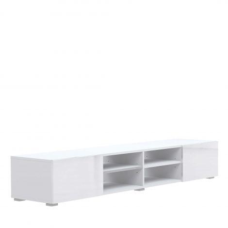 Tv-meubel Podium 185cm met 2 laden - wit