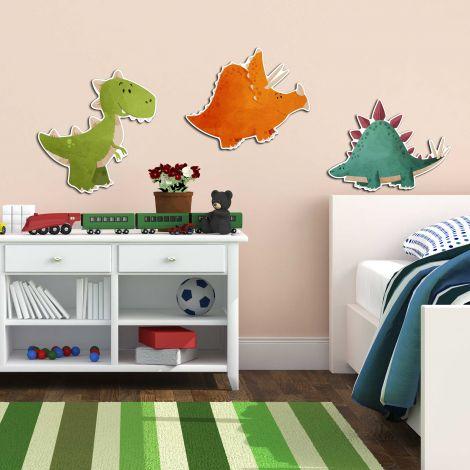 Muurstickers 3D Dinosaurus - schuimstickers