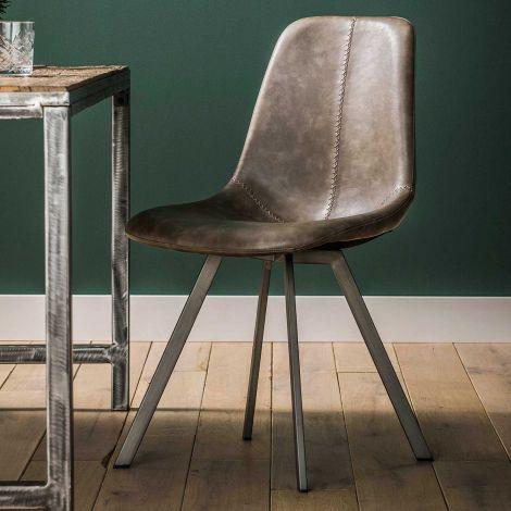 Set van 4 stoelen Zigi - taupe