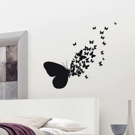 Muurstickers Butterflies Silhouettes