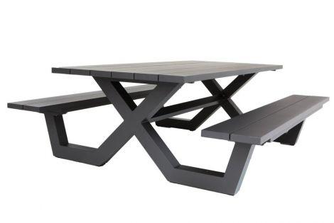 Picknicktafel Biabou 220x110 - zwart
