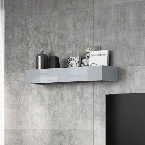 Wandplank Mussa 101cm - grafiet/zilvergrijs
