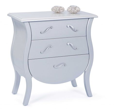 Commode Barokko - zilver