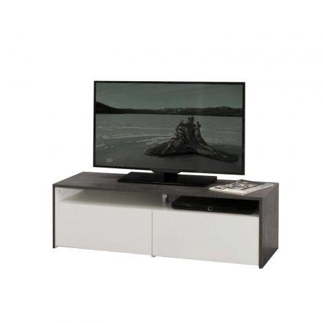 TV-meubel San Francisco 119cm - beton/wit
