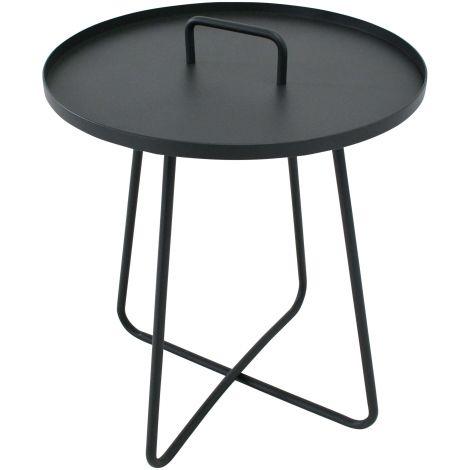 Table d'appoint Jennifer Ø50cm - anthracite