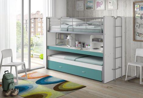 Lit mezzanine Bonny 80 - turquoise