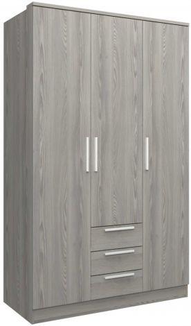 Armoire Ramos 3 portes & 3 tiroirs - frêne gris