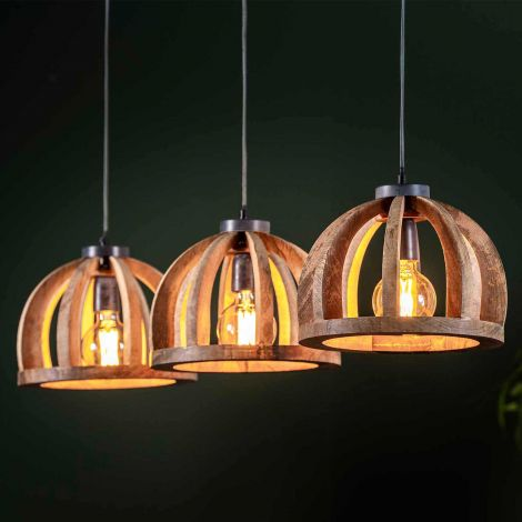 Hanglamp Lenno 3x Ø30 - mango