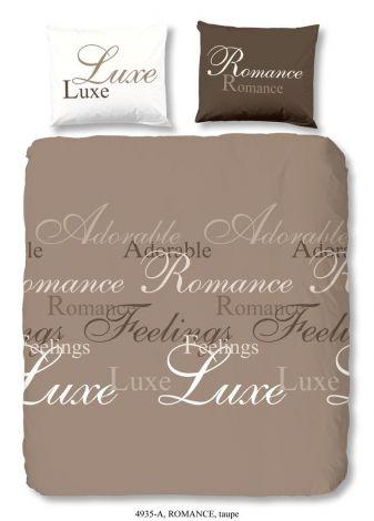 Dekbedovertrek Romance Taupe 200x220cm