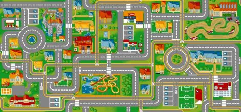 Tapijt Play City – 95x200
