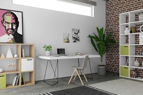 Table Multis 180cm - blanc/noir