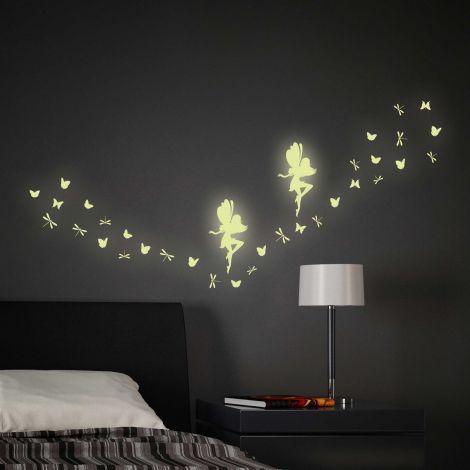 Muurstickers Fairy Glow in the dark
