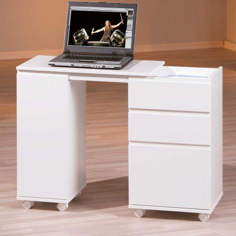 Laptoptafel op wielen - wit
