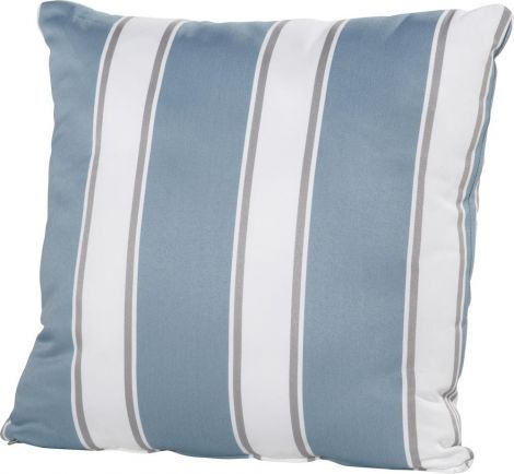 Coussin 50x50 - rayures bleues/blanches