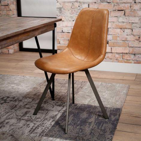 Set van 4 stoelen Zigi - bruin