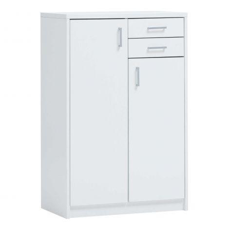 Commode Spacio 2 deuren & 2 laden H 110cm - wit