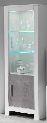 Vitrinekast Modena 2 deuren - wit/beton