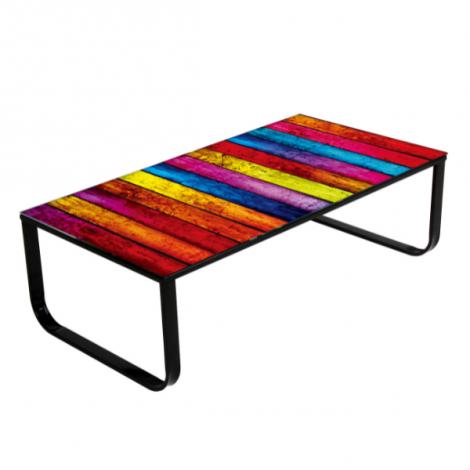 Salontafel Regenboog 105x55 metaal
