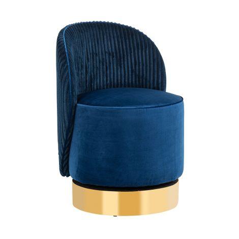 Draaifauteuil Presnel velours - blauw