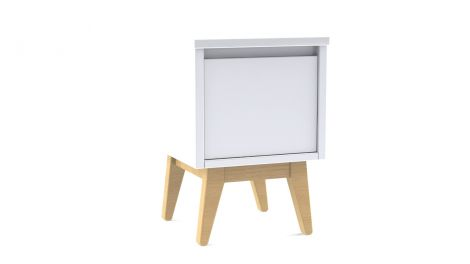 Table de chevet Pure - blanc