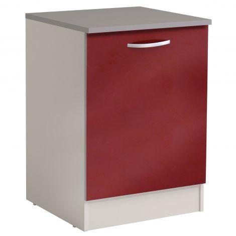 Meuble bas Spott 60 cm avec porte - glossy red